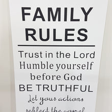 Family Rules Wooden Wall Art