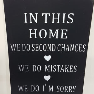 In This Home Wall Art Sign