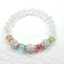Rainbow Crystal Stretch Beaded Bracelet