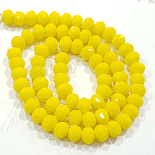 Yellow Crystal Rondelle Beads