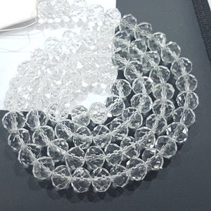 9x8mm Crystal Glass Rondelle Beads
