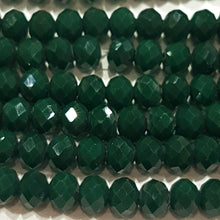 Dark Green Crystal Rondelle Beads