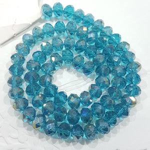 Blue AB Crystal Rondelle Beads