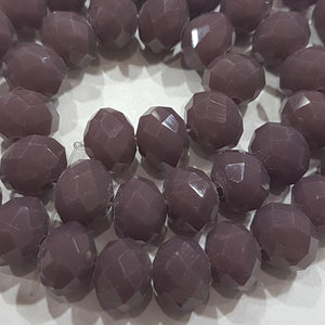 9x8mm Purple Crystal Rondelle Beads