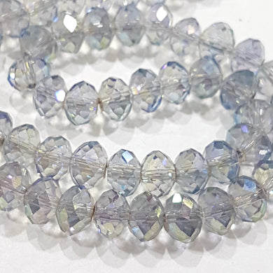 Light Blue AB Crystal Rondelle Beads