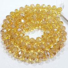 Golden Crystal Rondelle Beads