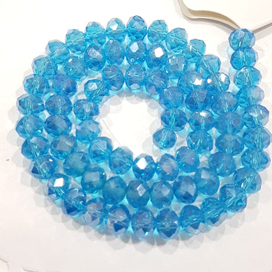 Blue Crystal Rondelle Beads