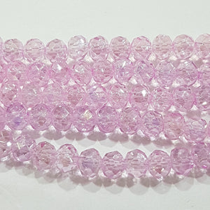 100pc Crystal Rondelle Beads