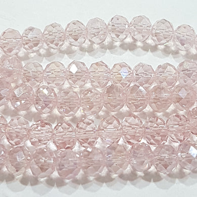Light Pink Crystal Rondelle Beads