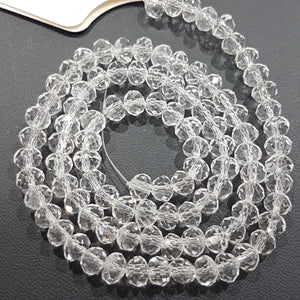 5x4mm Clear Crystal Rondelle Beads