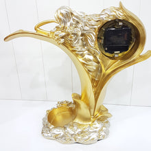 Golden Lady Clock Wine Holder