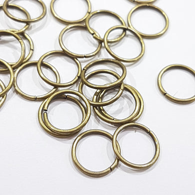 12mm Bronze Jump Rings 50pc