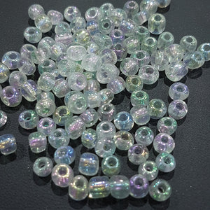 15g 6/0 Rainbow Transparent Seed Beads