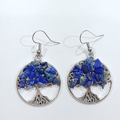 Lapis Lazuli Tree Of Life Earrings