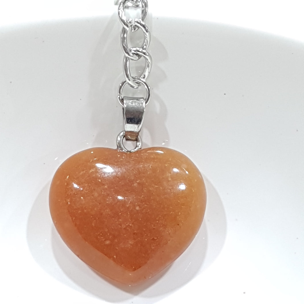 Orange Aventurine Key Ring