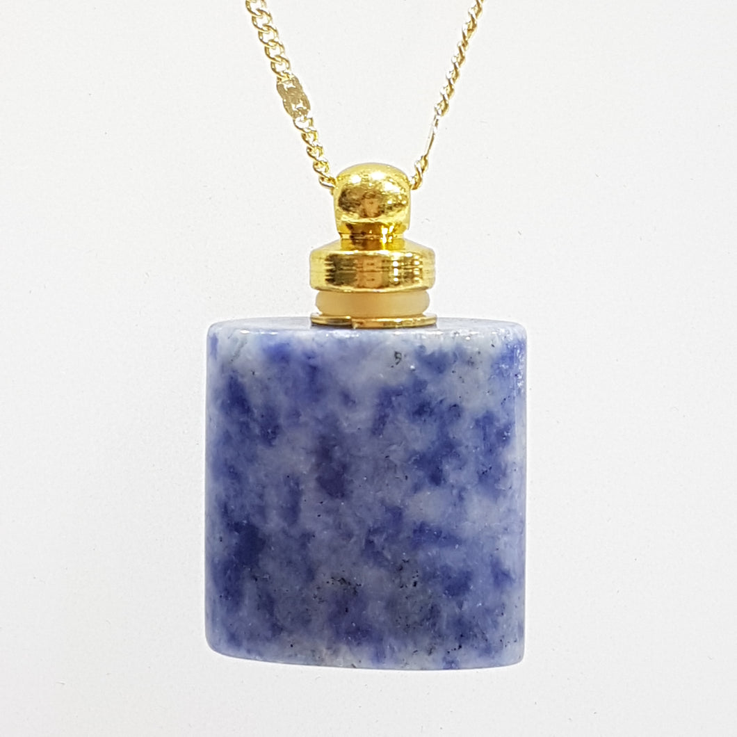 Sodalite Perfume Bottle Necklace
