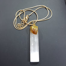 Selenite and Citrine Crystal Necklace