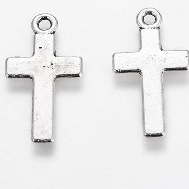 Antique Silver Cross Charm