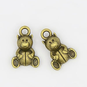 Antique Bronze Teddy Bear Charm