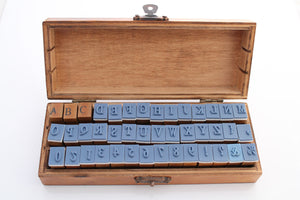 42pc Wooden Alphabet Stamp Set