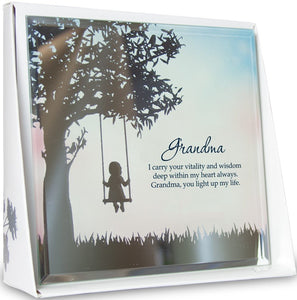Grandma Mirror Plaque