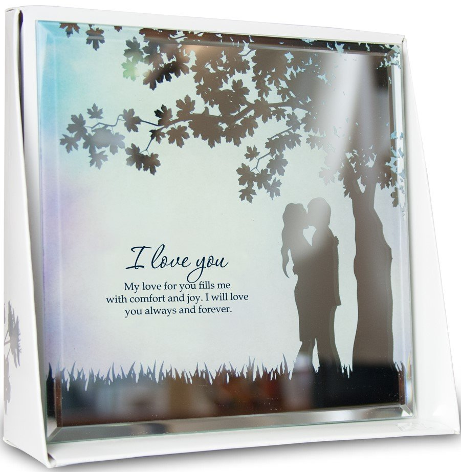 I Love You Mirror Plaque