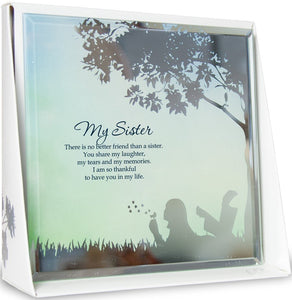 My Sister Mirror Plaque