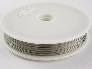 0.45mm Silver Tigertail Wire 50m
