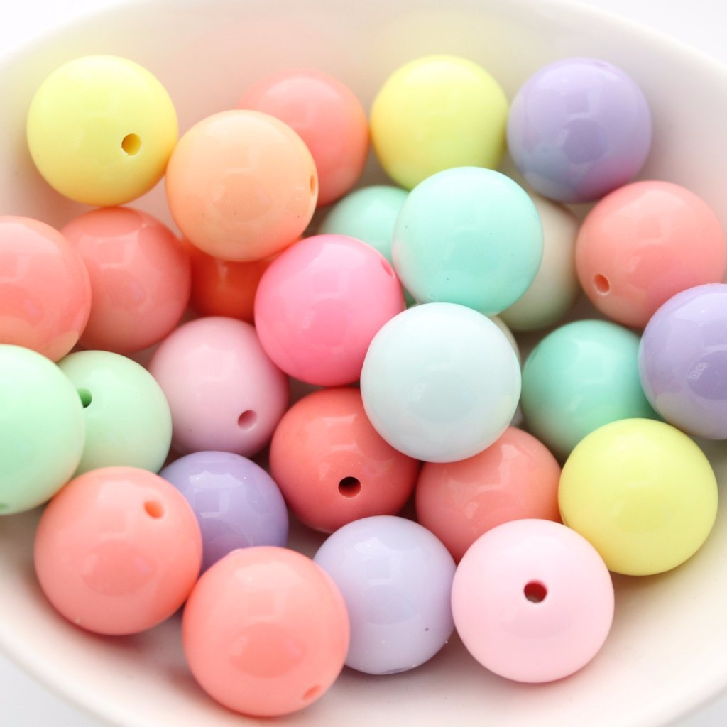 50pc 20mm Chunky Bubblegum Acrylic Beads
