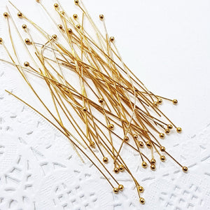 50pc 5cm Gold Ball Head Pins