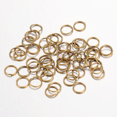 100pc 8mm Bronze Jump Rings