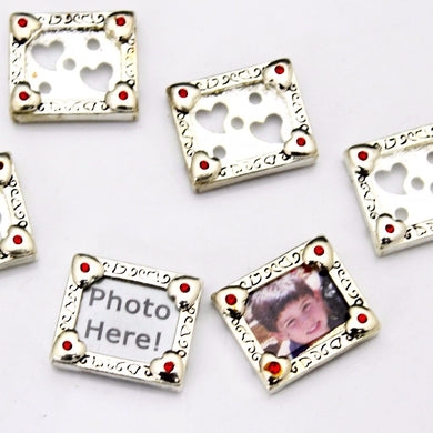 Rhinestone Photo Charms
