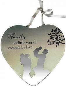 Reflections Of The Heart Mirror Plaque Family