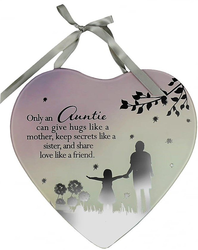 Reflections Of The Heart Mirror Plaque Auntie