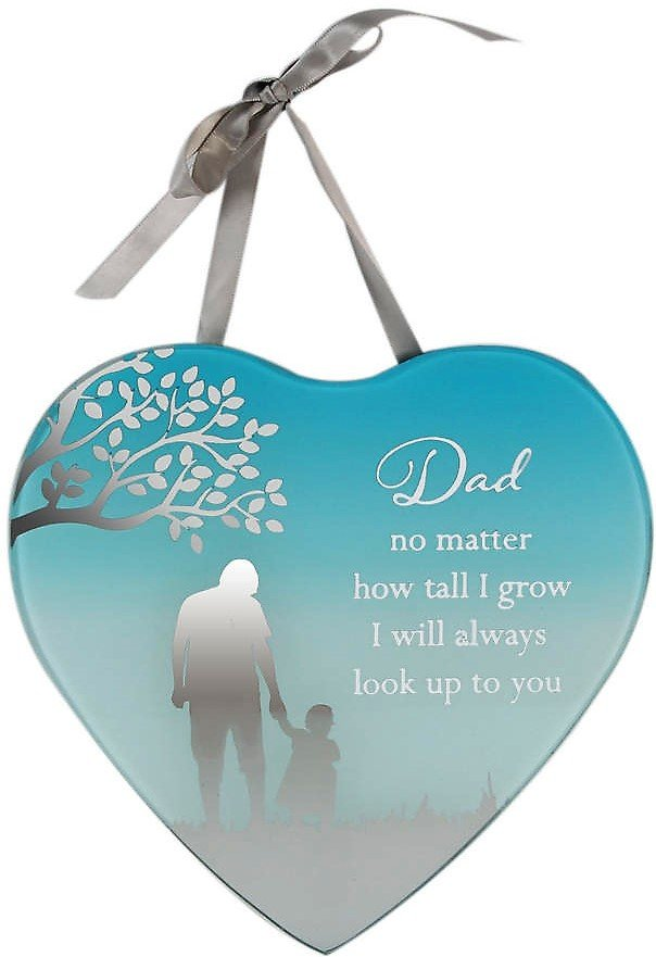 Reflections Of The Heart Mirror Plaque Dad