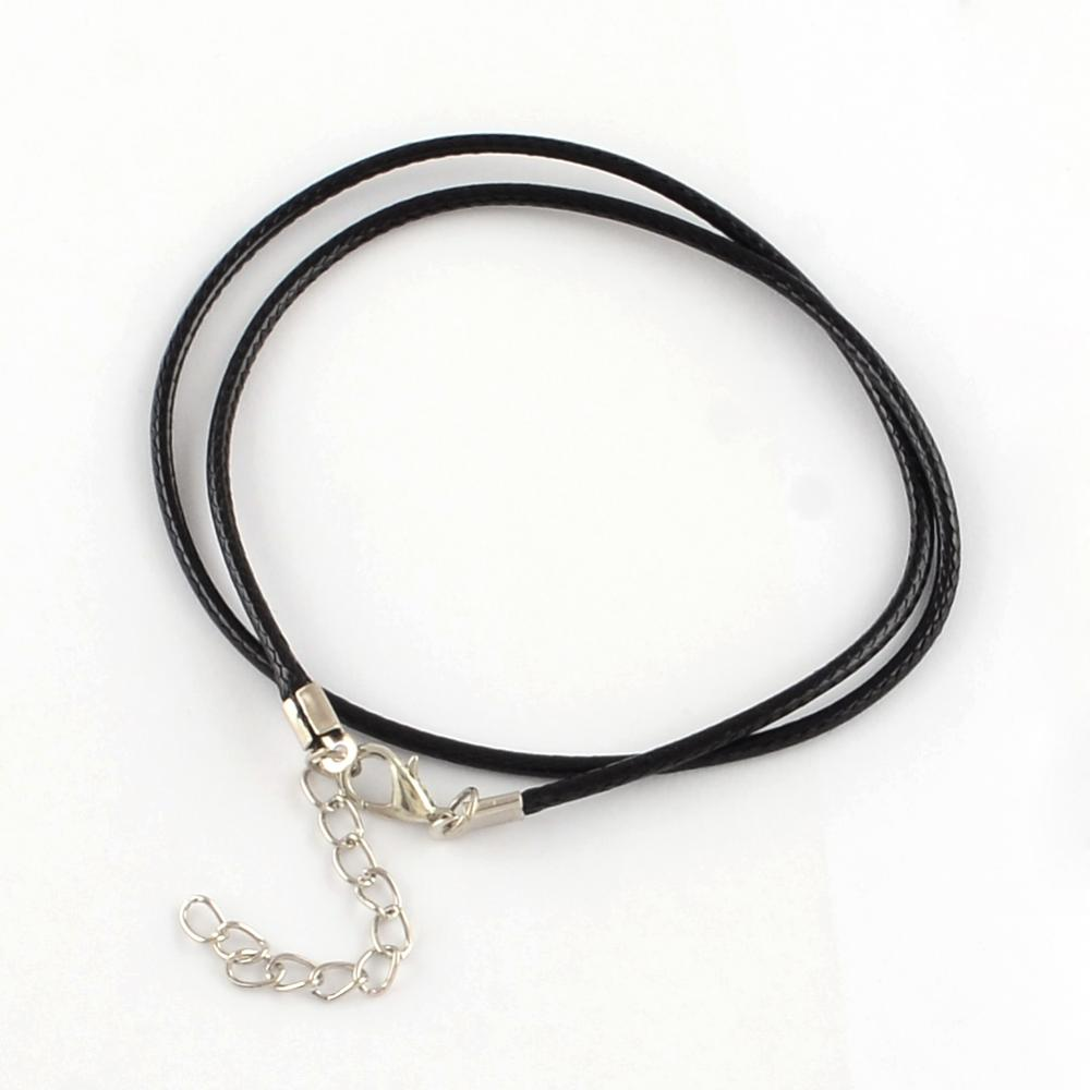 Black Waxed Cotton Necklace Cord