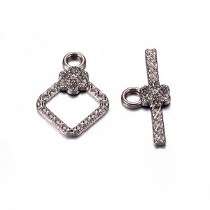 5 Sets Gunmetal Black Toggle Clasps