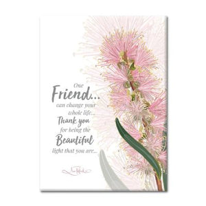 One Friend Botanical Plaque