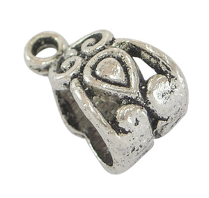 Antique Silver Pendant Slider Bail