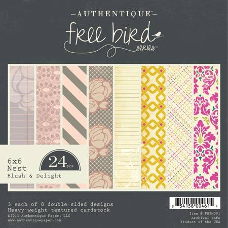 Authentique - Blush & Delight - 6x6 Paper Pad