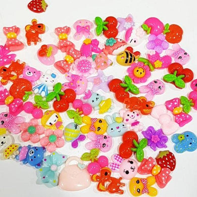 50pc Mixed Lot Resin Cabochons