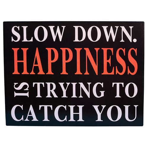 Slow Down Metal Wall Art