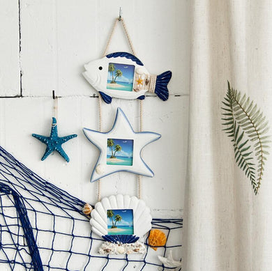 Nautical Hanging Photo Display