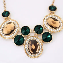 Gold and Green Statement Necklace
