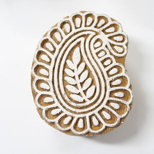 Paisley Hand Carved Wooden Block Stamp