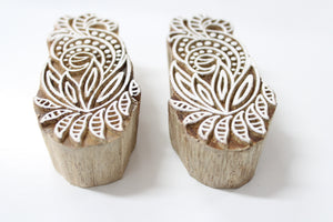 Indian Wooden Hand Carved Block Stamp