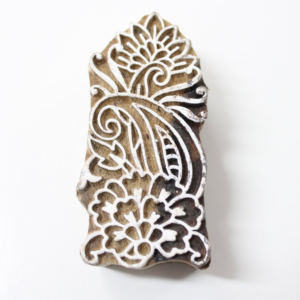 Hand Carved Wooden Block Stamp