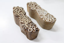 Flower Border Hand Carved Wooden Stamp