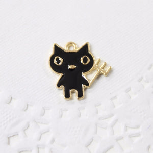Cute Black Devil Enamel Charm