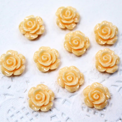 10pc Resin Flower Cabochons